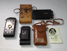 KODAK 3 Folding Camera Lot, 2 with Cases Vigilant Six - 20, 1-A Jr, Six - 16