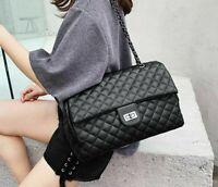 Classic Diamond Pattern Women Plaid Messenger Bag Big Square Female Shoulder Bag