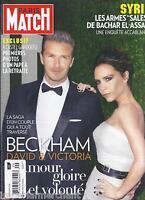 Paris Match Magazine David Victoria Beckham Syria Pope Mali Jean Rochefort Hands