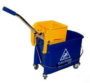 Putzeimer Putzwagen mit Presse , rollbar ca. 19 ltr. - 2 Kammersystem NEU