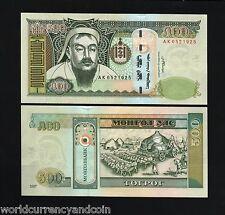 MONGOLIA 500 TUGRIK P66 2007 GENGHIS KHAN OX UNC MONGOLIAN CURRENCY MONEY NOTE