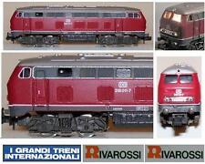 RIVAROSSI 2192 LOCOMOTORE DIESEL VT216 011-7 DB BORDEAUX con LUCE e OVP SCALA-N