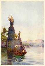 LENNO: Villa del Balbianello: Entrata.Lago di Como.PASSEPARTOUT.CERTIFICATO.1905