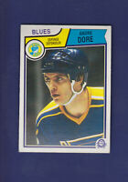 Andre Dore RC 1983-84 O-PEE-CHEE OPC Hockey #313 (EXMT+) St. Louis Blues