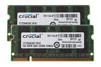 Sale Crucial RAM 4GB 2x 2GB PC2-5300 DDR2 667MHz CL5 200PIN Sodimm Laptop Memory