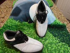 Footjoy SuperLites Golf shoes Men SZ 11 XW U.S.A  Med USA Black,White Excl Cond