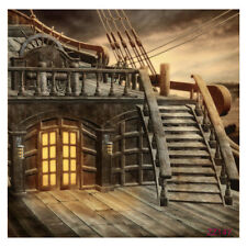 5x7FT Vinyl Studio Photography Backdrop Retro Pirate Ship Photo Background FK