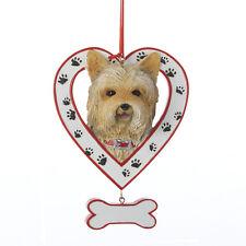 Yorkshire Terrier in Heart w/Dangle Bone Ornament