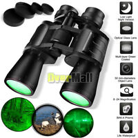 Day/Night 180x100 Military Zoom Powerful Binoculars Optics Hunting Camping+Case