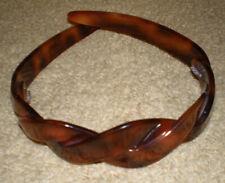 French Headband Celluloid Tortoise Shell Braided Headpiece Hair Clip