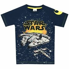 Star Wars Boys Millenium Falcon T-shirt Age 7 to 8 Years