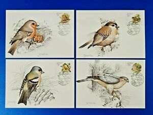 Madeira Portugal First Day Issue Bird Art Postcards 1988 NY9