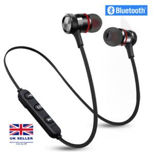 Sweatproof Wireless Bluetooth Earphones Headphones Sport Gym For Samsung iPhone.