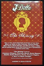 """J DILLA The Shining EP Jay Dee promo record store poster 2006 hip hop 17"""" x 11"""""""