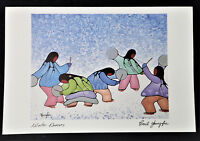 Winter Dancers Cecil Youngfox Art Card Native Canadian Indian Women Children