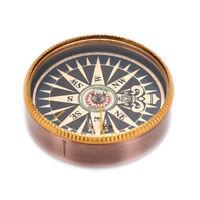 1Pc x Pocket Button Escursione all'aperto Bussola in metallo vintage per camLO