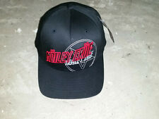 MOTLEY CRUE baseball Cap Hat Black Flexfit L/XL S/M Winter Lane Pentagram Devil