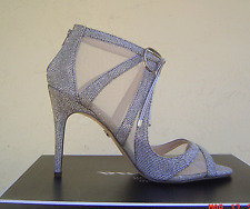 NEW NINA SILVER MESH METALLIC BOW PUMPS SIZE 8.5 M $89