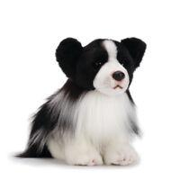 DEMDACO Nat & Jules Regal Small Border Collie Dog Childrens Plush Stuffed Animal