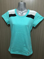 BNWT Girls Size 12 Ozemocean Soft Stretch Aqua/Stripe Short Sleeve T Shirt Top