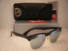 Ray Ban Oversize Clubmaster Matte Black w Silver Mirror Lens (RB4175 877/30)