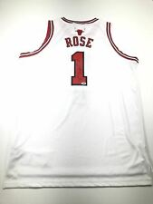 Derrick Rose signed jersey PSA/DNA Chicago Bulls Autographed White