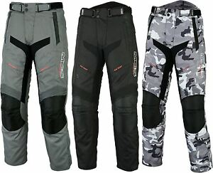 MOTORCYCLE BIKE TEXTILE TROUSER WATERPROOF TOURING CE ARMOUR TROUSER