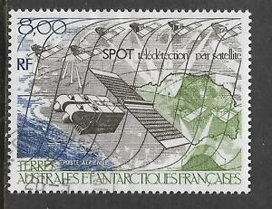 FRENCH ANTARCTIC TAAF 1986 SURVEILLANCE SATELLITE 1v FINE USED