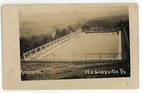 RPPC Reservoir at HUGHESVILLE PA Vintage Pennsylvania Real Photo Postcard