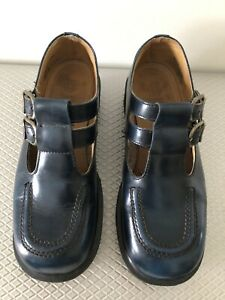 DR MARTENS SHOES BLUE UK5/AU7 MADE IN ENGLAND VINTAGE MARY JANES