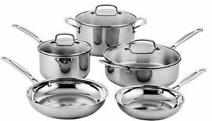 All-Clad Stainless Cookware Set (8-Pieces), 87-8