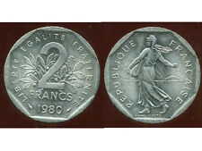 2 francs 1980 NICKEL  semeuse  ( SPL )