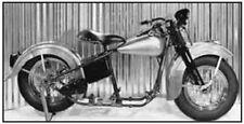 Harley Davidson 1947 Knucklehead Rolling Chassis Kit Handshift Chrome Bullneck