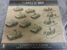 Flames of War italiano lorenzo`s Rams-Ejército Caja-Nuevo y Sellado