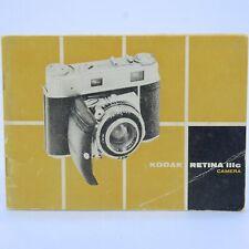 Kodak Retina Iiic Camera Owners Manual, 45 page Instruction Book