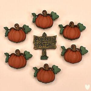Dress It Up Buttons Pumpkin Patch 3256a - Halloween Witches Ghosts Bats Autumn