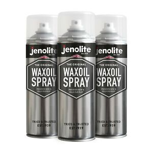 3 x Jenolite Rust Prevention Waxoil 500ml