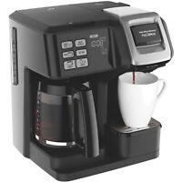 Hamilton Beach FlexBrew 2-Way Coffee Maker, Full-Pot or Single Serve, 49957