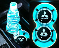 For Mitsubishi Colorful LED Car Cup Holder Pad Mat Auto Atmosphere Lights New