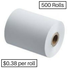 500 Rolls 57x50mm Thermal Paper, Cash Register (38.9 cents per roll)