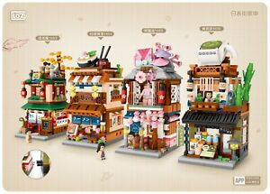 LOZ Mini Japanese Street Shop 1653-1656 Building Blocks Toy Gift Ramen Onsen