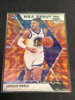 Jordan Poole 2019-20 Panini Mosaic Orange Reactive Prizm NBA Debut RC