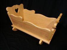 Sm Doll Cradle  Solid Oak Furniture House  Amish Kids Toy Golden Oak Stain