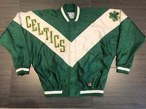 TEAM ISSUE 90s Mens Champion Boston Celtics Warm Up NBA Basketball Jacket Sz 44