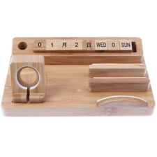 4in1 Wood Desk Stand Holder Charge Dock Station For Apple Watch iPhones iPad