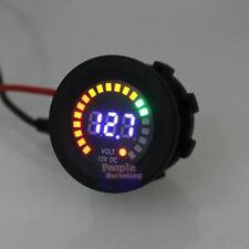 12V LED Digital Car Motorcycle Voltage Socket Meter Gauge Voltmeter Waterpoof