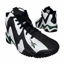 Reebok Men's Kamikaze II Mid X Shawn Kemp Basketball Sneaker Black Green Size 10