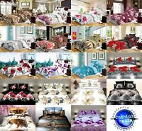 Duvet cover set Double King Quilt cover 3D 2 Pillow Cases Bedding NEW 80 GSM