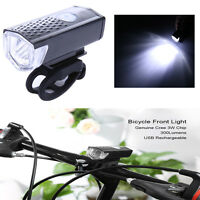 300LM Cycling Bicycle CREE LED Lamp USB Rechargeable Bike Head Front Light Torch