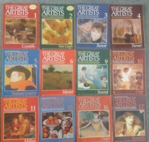 The Great Artists Magazine collection. Marshall Cavendish (50 Magazines) VGC